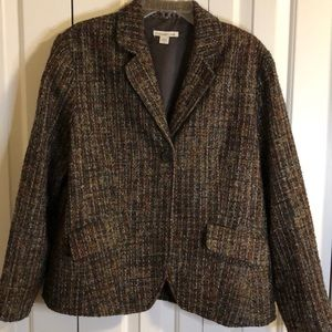 Coldwater creek size 16 brown jacket with pockets